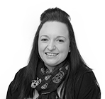 A black and white photo of Danielle McMullan, senior administrator at Rapid Formations.